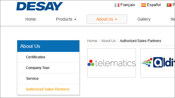 Desay Intelligent Technology · Our Authorized Sales Partners